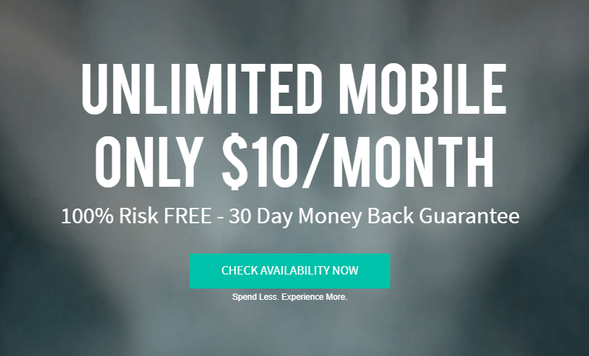 Unreal Mobile, $10/Month for Unlimited Talk, Text and Data